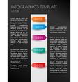 black infographic timeline vector image