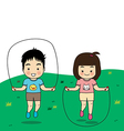 boy and girl exercise vector image