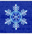 christmas-snowflake-greeting-card-template vector image