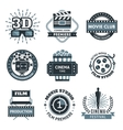 Cinema Label Set vector image