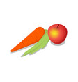 fresh fruit isometric 3d icon vector image