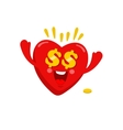 Love to money vector image
