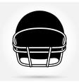 Silhouette symbol of American football helmet vector image