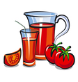 juice tomato vector image