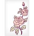 Pink rose flower vintage card vector image