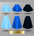 different model skirt on vector image