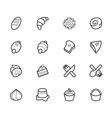 bakery popular icon set on white background vector image