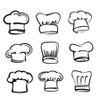 Chef hat icons vector image vector image