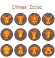 Chinese Zodiac Icons Set vector image