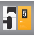 business card number 5 vector image vector image