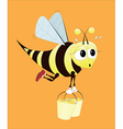 hard working bee vector image vector image