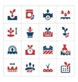 Set color icons of seed and seedling vector image