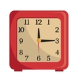 colorful table clock graphic vector image