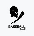 baseball game logo vector image