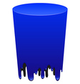 Blue color tube melting vector image