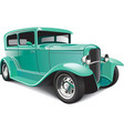 classical hot rod vector image