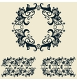 Decorative floral and abstract elements vector image