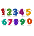 Funny Numbers Cartoon Characters vector image