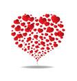 happy valentines day hearts symbol vector image