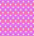 Hearts bubbles pattern on white background vector image