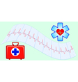 Medical aid vector image