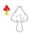 Mushroom coloring book Mushroom figure line vector image
