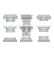 realistic ancient greek roma column vector image