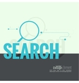 Search with a magnifying glass vector image