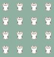 Sketch maneki neko cat vector image