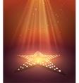 Star retro light banner vector image
