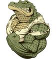 Ferocious strong crocodile vector image