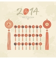 Tassels set with Chinese zodiac signs vector image vector image