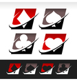 Swoosh Poker Icons vector image