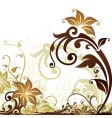 tropical floral background vector image vector image