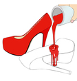 The coloring of the shoes vector image vector image