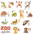 Zoo Abc vector image
