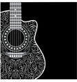 background with clipped guitar and stylish ornamen vector image
