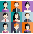 Avatar flat design icons People vector image