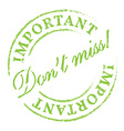 Dont miss eco stamp vector image