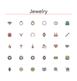 Jewelry Colored Line Icons vector image