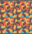 original usa shape camo seamless pattern colorful vector image