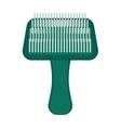 Pet brush grooming animal hair wool comb handle vector image