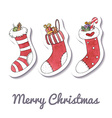 Watercolor Christmas and New Year greeting card vector image