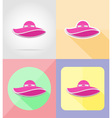 objects for recreation a beach flat icons 08 vector image vector image