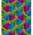 multicolor isometric seamless pattern vector image