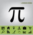 pi greek letter sign  black icon at gray vector image