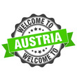 austria round ribbon seal vector image