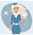 beautiful stewardess vector image