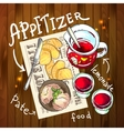 Appetizer and aperitive vector image vector image