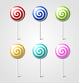 sweet glossy lollipops vector image